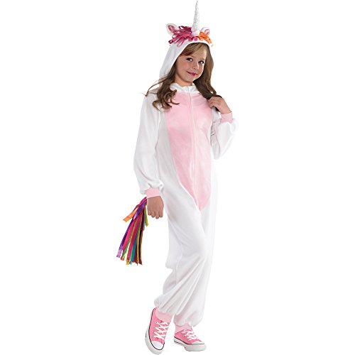 (Girl's Unicorn Onesie Costume For Everyday Use or Party Occasions ... (SizeM 128/140))