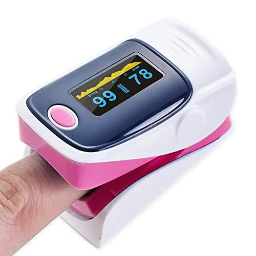 Pulsoximeter, Fingeroximeter - Oximeterfinger mit zweifarbigem OLED-Bildschirm, 6 Anzeigemodi und 4-fach einstellbarer Anzeige, geeignet für Bergsteiger, Skifahrer, Motorradfahrer, Avia