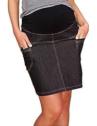 Mija - UmstandsRock mit Bauchband/sportlich Denim Jeans 9060