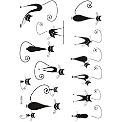 Tatuaje falso para niños de gatos HSC119