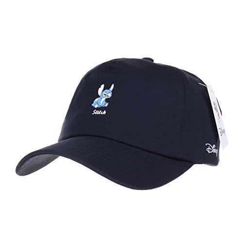 WITHMOONS Baseballmütze Mützen Caps Kappe Disney Baseball Cap Lilo and Stitch Patch Hat CR1308 (Navy)