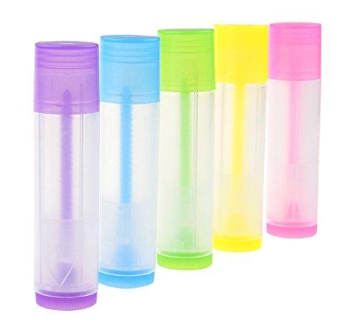 TININNA 5g Vides en Plastique PP Ronde Baume à lèvres Gloss Cosmétiques Tubes Mini Conteneurs avec Couvercle 50pcs