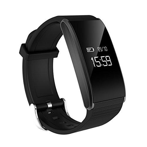 MinMin Smart Watch - Fitness-Sport-Armband Smart Bluetooth-Uhr Schlaf-Monitor Wasserdichter Pedometer Health Dual System Multifunktions Intelligentes Armband für Sportuhren -