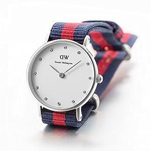 Daniel Wellington Ladies Watch LADY XS Classy Oxford Nylon 0925DW SILVER Analogue Quartz