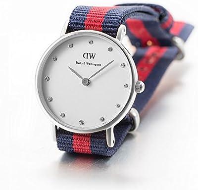 Daniel Wellington 0925DW - Reloj con correa de piel para mujer, color blanco / gris