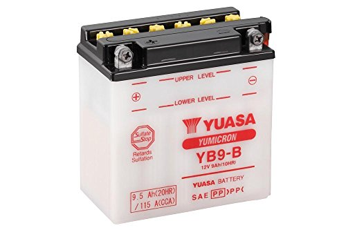 Batteria YUASA YB9della B, 12V/9Ah (dimensioni: 138X 77X 141) per Malaguti Madison 250anno di costruzione 2004