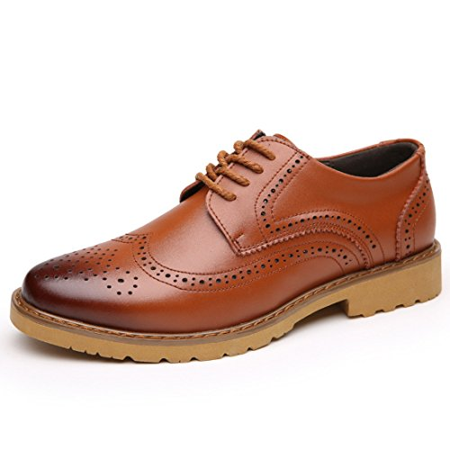 Men's Bullock Round British Leather Flat Casual Shoes brown