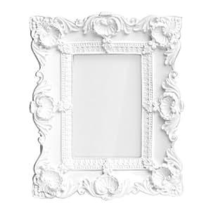Premier housewares 2300758 cadre photo baroque en polyresin finition blanc lu - Petit cadre photo baroque ...