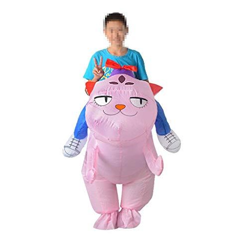 Lustige Kostüm Für Katze Menschen - OLLVU Erwachsene Halloween Rosa Katze Kreative Aufblasbare Kleidung Ganze Menschen Lustiges Kostüm Kostümfest Schule Aktivität Kostüm Requisiten (Color : Pink, Size : 150-195cm)