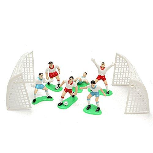 TOOGOO 8 pz Calcio Calcio Tortatopper Giocatore Strumento di Decorazione Compleanno Muffa Impostato