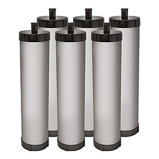 6 X AquaCrest Water Filter Compatible with Franke Filterflow FRX03 & Carron Phoenix