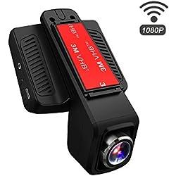 TOGUARD Cámara De Coche Cámara Embarco WiFi Full HD 1080P, Gran Ángulo de 170°, DASHCAM Registrador Vídeo Numérica Pantalla IPS LCD 2.45 Pulgadas, Registro Cierran, HDR, Monitor de Estacionamiento, Monitor de Movimiento