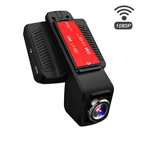 TOGUARD Dashcam WiFi, Full HD 1080P Auto Kamera mit 170° Weitwinkelobjektiv,WLAN Unauffällige Fahrzeug DVR Rekorder, Bewegliches Objektiv, G-Sensor, Loop Aufnahme, Parkmonitor,Nachtsicht und G-Sensor - Mit Dvr Wifi-sicherheits-kameras