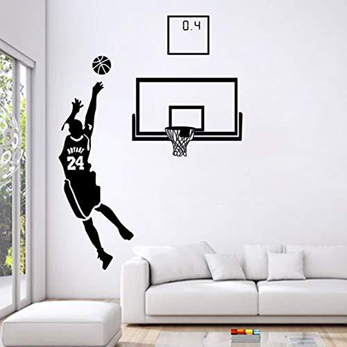 Sport Thema Wandtattoos Basketball Star Aufkleber für Wohnzimmer und Boy`s Room The Miraculous 0.4s Lore von Kobe Bryant -