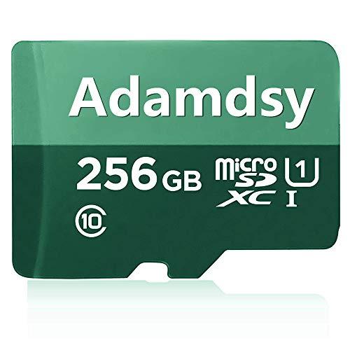 Adamdsy scheda di memoria micro sdxc 256 gb con adattatore sd per fotocamera, tablet e smartphone android (f158-q5)