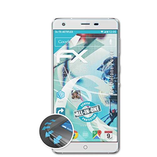 atFolix Schutzfolie passend für Ulefone Power Folie, ultraklare & Flexible FX Bildschirmschutzfolie (3X)