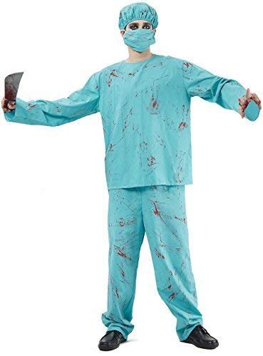 Kostüm Chirurg Tot - Fancy Me Herren 4 Stück Toter Zombie Blutig Chirurg Arzt Halloween Horror Kostüm Kleid Outfit