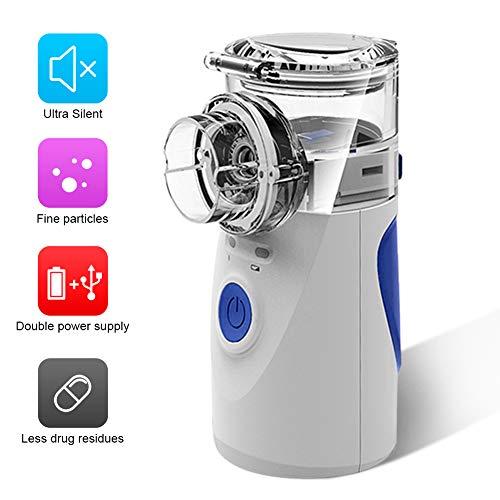 Inhalator Vernebler Tragbares für Erwachsenes und Kinder Vernebler mit Mundstück und Maske Heimpflege Inhalationsgerät Inhaliergerät für Atemwegserkrankungen
