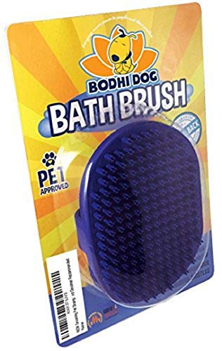 Bodhi Dog Grooming Pet Shampoo Brush Soothing Massage Rubber Bristles Curry Comb for Dogs and Cats Washing