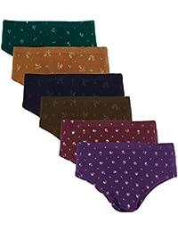 Dixcy Josh Women's Cotton Blend Printed Panties - Pack of 6