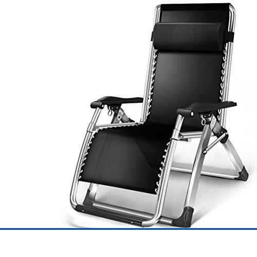 L&J Verstellbaren Sessel mit kopfstütze,Chaise Lounges Tragbare klappstühle für Patio Office...