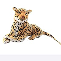 "Symkeny Simulation Leopard Plush Toy, Cute Realistic Cartoon Cheetah Leopard Doll, Large Doll Activity Props, The Best For Boys And Girls, Yellow, 15.7"" ( Size : S-40cm )"