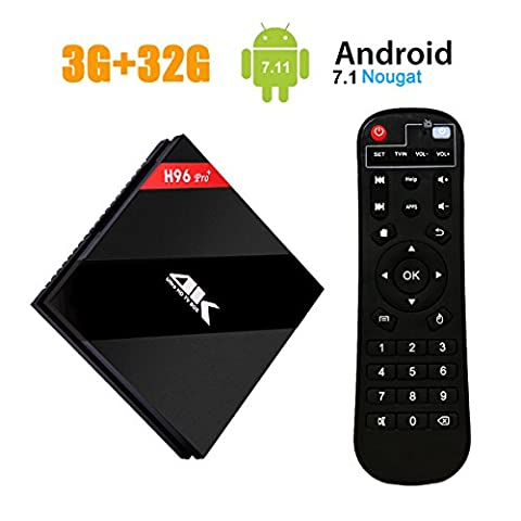 [3GB/32GB/4K] H96 Pro+ Newest Smart Android 7.1 TV Box Amlogic 912 Octa-core 64 bits Processor,HDMI 2.0 Output Dual Wifi 2.4GHz/5.0GHz 1000M