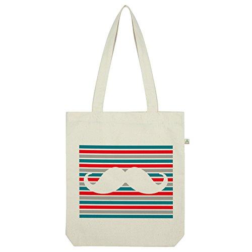 tripe Schnurrbart Tasche Weiß weiß ()