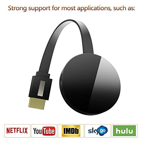 AideMeng Dongle Inalámbrico con Pantalla WiFi 1080P HD, Adaptador inalámbrico WiFi Dongle HDMI Compatible con DLNA Airplay Miracast para Android Tablet iPhone iPad Pixel Nexus, Wireless HDMI Dongle
