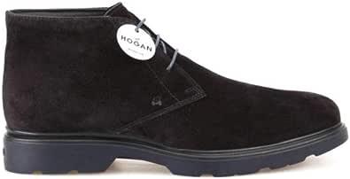 Hogan Luxury Fashion Uomo HXM3930W352LDUB999 Nero Camoscio Polacchini | Stagione Outlet
