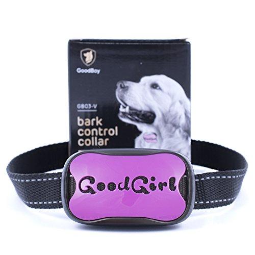 Hunde trainingshalsband für kleine und mittelgroße Hunde mit Vibration. Kontrolle von übermäßigem Bellen mit diesem einfachen Antibell Halsband. Sicher und human ohne Schock (GoodGirl, Lila)