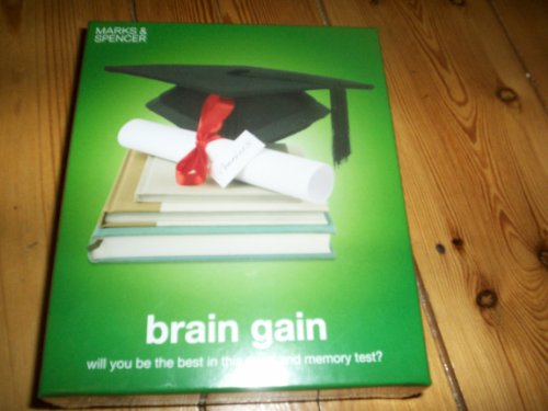 M & S BRAIN GAIN GAME - WILL YOU BE THE BEST IN THIS MIND AND MEMEORY TEST - ONE OR MORE PLAYERS - AGE 8+