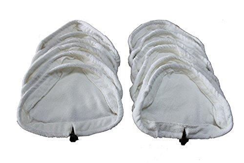 kingken 12PCS Dreieck Mikrofasertuch Reinigung Pads Steam Mop Set swabber Set (weiß)
