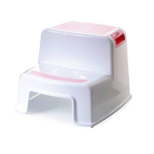 ZXYWW Baby Dual Höhe Schritt Hocker Bad WC Töpfchen Training Zwei Stufen Schritt Hocker Anti-Rutsch Für Kinder Kleinkinder-Farbe Grau, Blau, Grün, Rosa,Pink