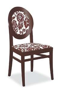 Chaise Notre Dame O&G Calligaris Floral Blanc/Brun