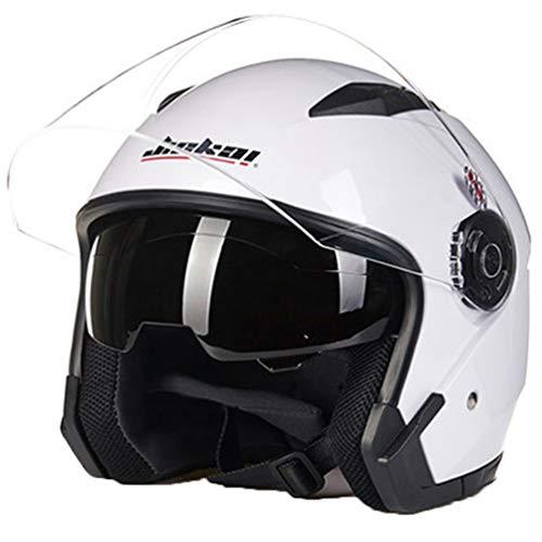 Casco moto doppia lente adulti protezione UV vento antipolvere antishock aperto faccia moto Caschi Outdoor scooter Motocross Mountain bike tappi di sicurezza cappello