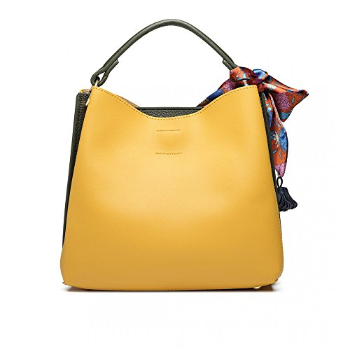 Miss Lulu, Borsa a spalla donna M Yellow/Green
