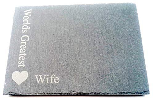 Chris Tasche von Leckereien Worlds Greatest Frau Quadratisch Grau Slate Herz Motiv Neuheit Andenken Single One Untersetzer Hochzeitstag Idee aus Mann für Getränke