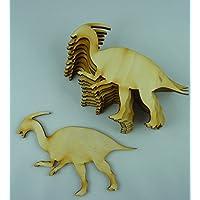 Unbehandeltes Holz 10x Giraffe Dino Form Holz Basteln Dekoration Malen für Kinder Hängedeko V56