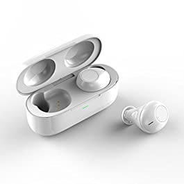 MJYUN In Ear Wireless Earbuds with Charging Case, Bluetooth Headphones V4.2