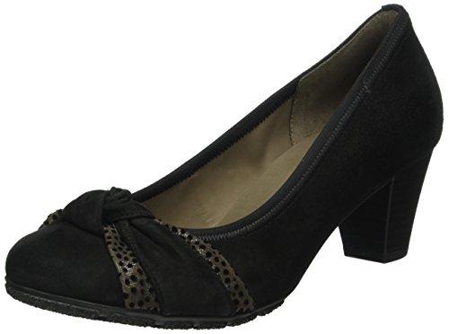 Gabor Shoes Basic, Scarpe con Tacco Donna, Multicolore (Schwarz/Zinn 17), 44 EU