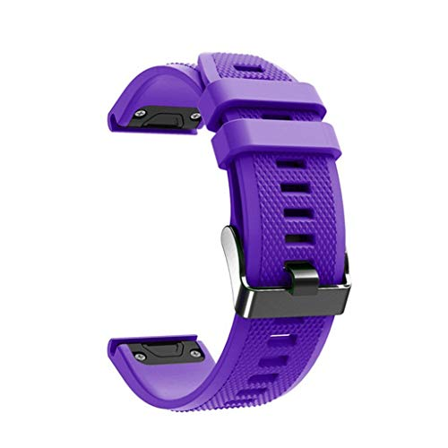 TianranRT Ersatz Silikon Watch Band Gurt Für Garmin Fenix 5/5 Plus Smart Watch (Lila)