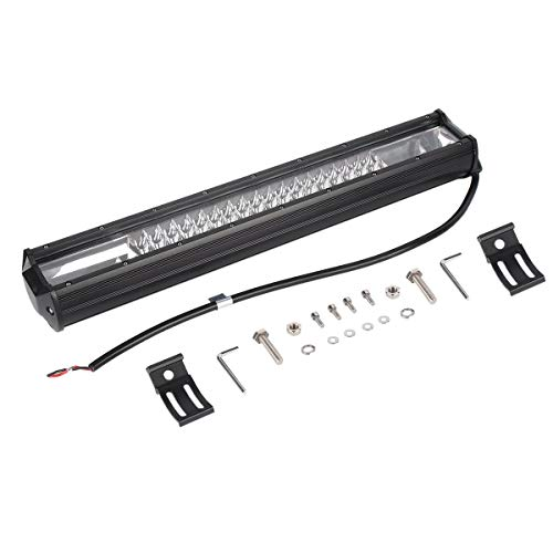 20-Zoll-540W dreireihige 3 LED-Arbeitslicht 7D Dateien Long Bar Combo-Punkt-Flut-Licht für SUV LKW Geländewagen Arbeitslicht (schwarz) -