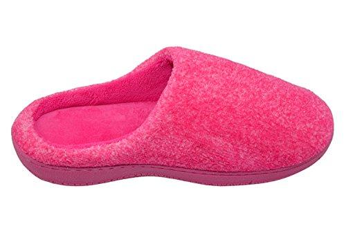 MOXO Damen Hausschuhe Pantoffeln Pfirsich Schlag
