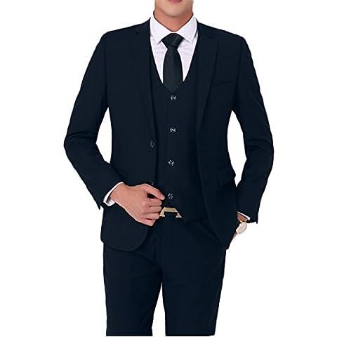 Primeday Costume Homme Formel Deux-Pièces Deux Boutons Business Mariage Slim Fit Blazer Mode Elégant Classique