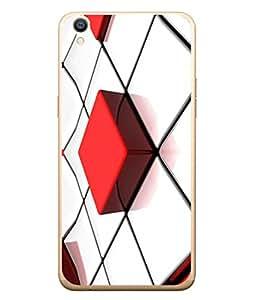 PrintVisa Designer Back Case Cover for Oppo R9 Plus (Check Dice Square Qube Box Texture )