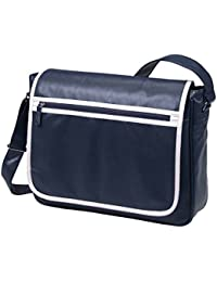 HALFAR - sac rétro sacoche bandoulière étudiant imitation cuir 1807541 - bleu marine - mixte homme/femme