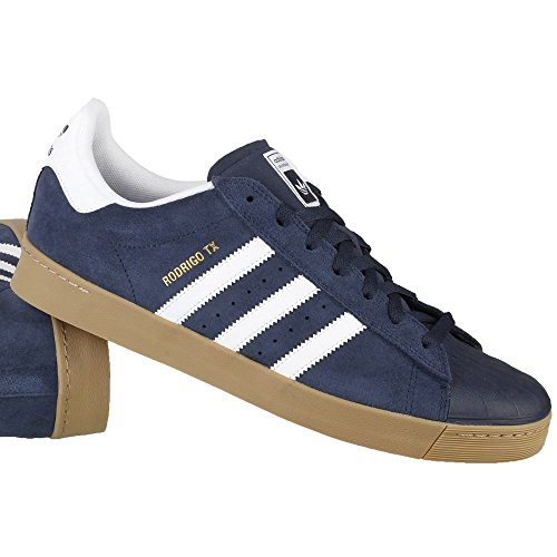 Adidas Skateboarding - Chaussures Skateshoes Homme Superstar Vulc Adv - Taille:one Size Blanc-Beige-Bleu marine
