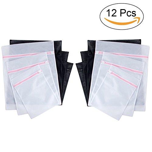 Preisvergleich Produktbild AUTOPKIO Wäschebeutel Set von 12,  Mudder Zippered Mesh Waschbeutel für Waschmaschine,  (Small * 4,  Middle * 4,  Large * 4)
