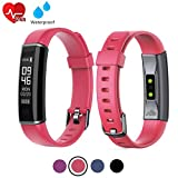 acti Y-Fit Band Activity Fitness Tracker OLED Screen with Heart Rate, Step & Sleep Tracker, IP67 Waterproof, Pedometer Sports Watch for Men, Women, and Kids (Red)